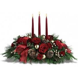 pesidencial navidad con velas