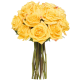 Rosas tallo largo amarillas (sin jarrón)