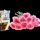 Bouquet de 12 rosas rosas